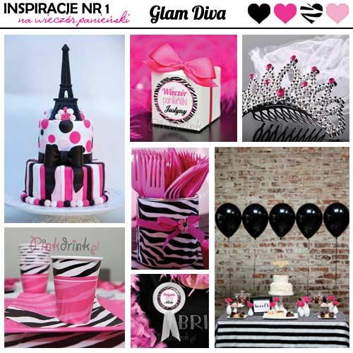 Inspiracje na wieczór panieński nr 1 - kolekcja Glam Diva