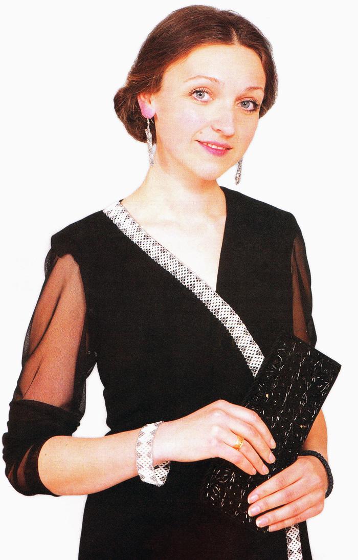 отделка платья бисером