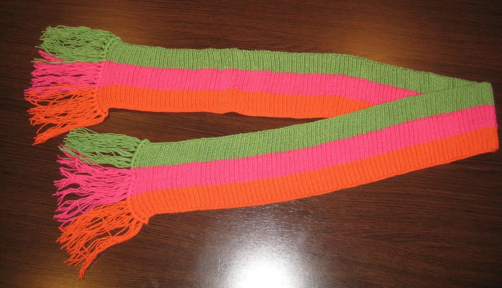 mis nancys, mis peques y yo, bufanda tricolor niña