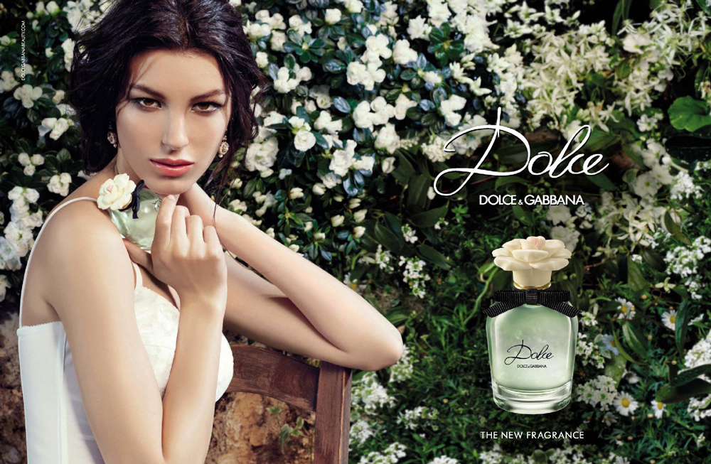 Kate King in Dolce by Dolce & Gabbana perfume campaign