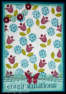 Bright Blossoms Congratulations Card by Bekka www.feeling-crafty.co.uk
