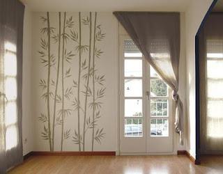 Adesivo de parede na decoração