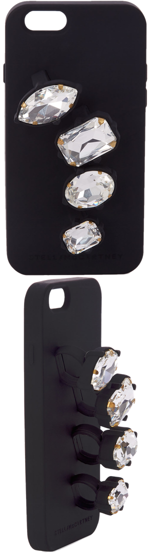 Stella McCartney Rhinestone Knuckle Ring iPhone 6 Case, Black