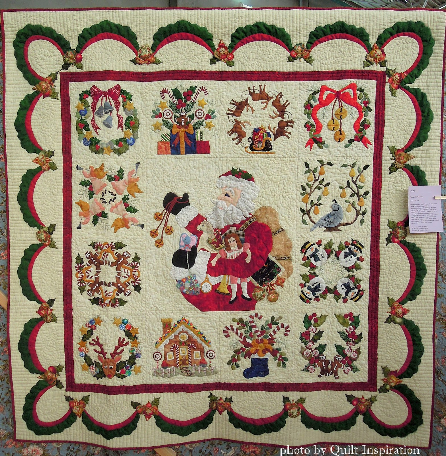 Free Quilt Patterns For Holidays : Quilt Inspiration: Twelve days of Christmas Quilts: Magical Memories