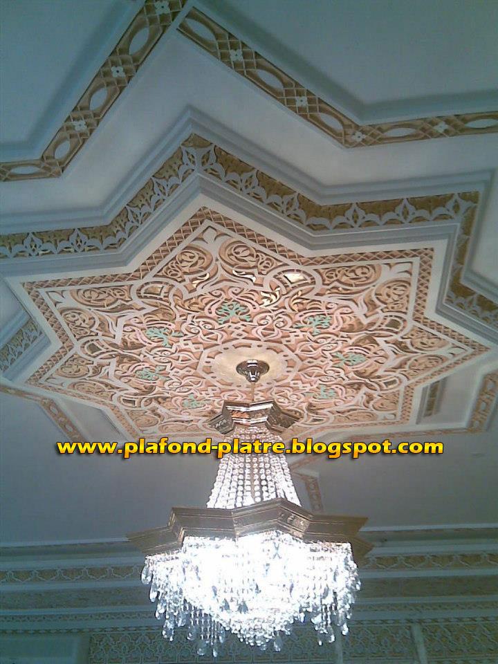 plafond,platre,sculpté,marocaine
