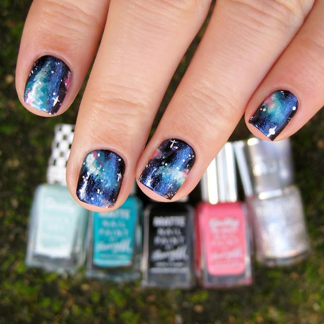 galaxy nailart