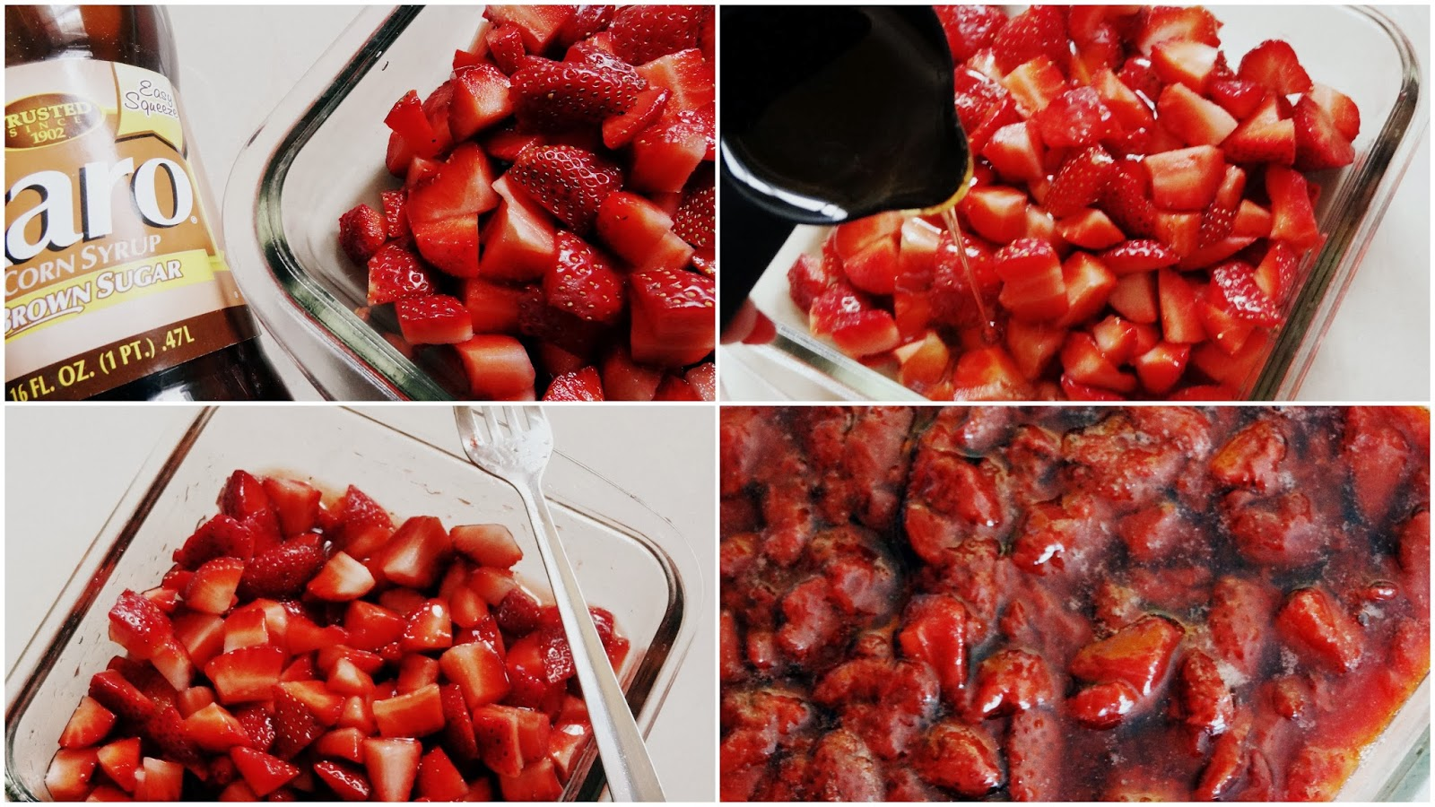for this smoothies i roasted the strawberries as roasting brings