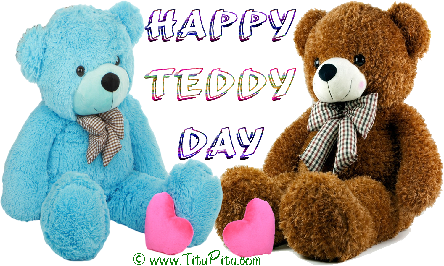 Pink-and-brown-Teddy-day-wallpaper
