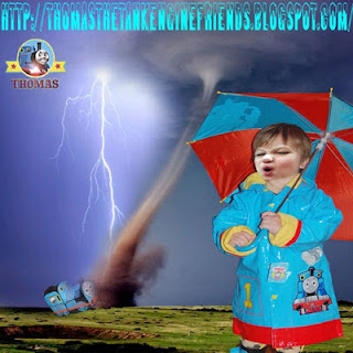 Delightful Thomas rain umbrella sunshade Brolly Wellington boots raincoat wet gear for kids items