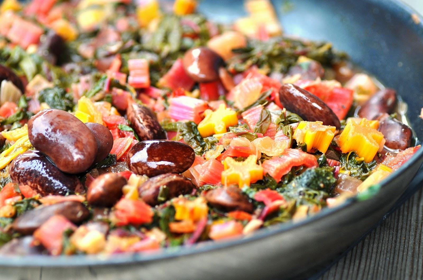 Mangold Käferbohnen Gemüse Zum Steirischen Lamm Kubiena Kochblog