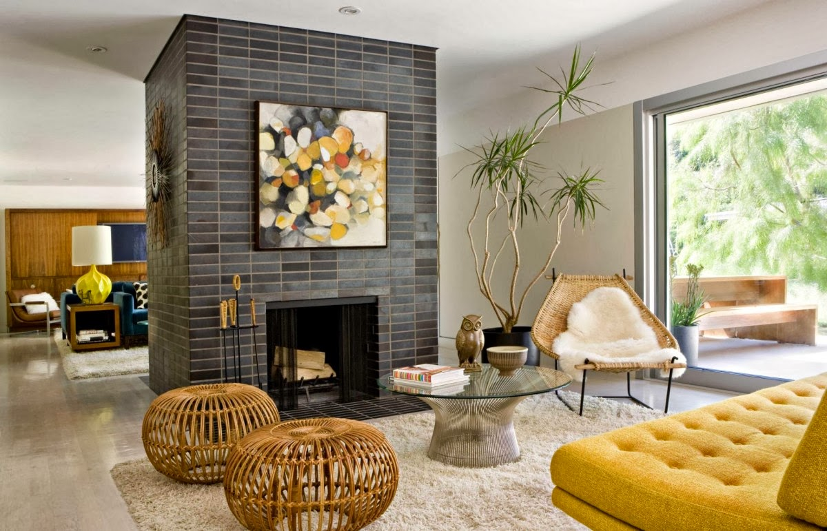 Adding Bright Pops Of Color Into Modern Mid Century Home Interiors Interiornity Source Of