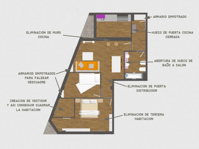 Solución piso con descuadre - 3dinteriores