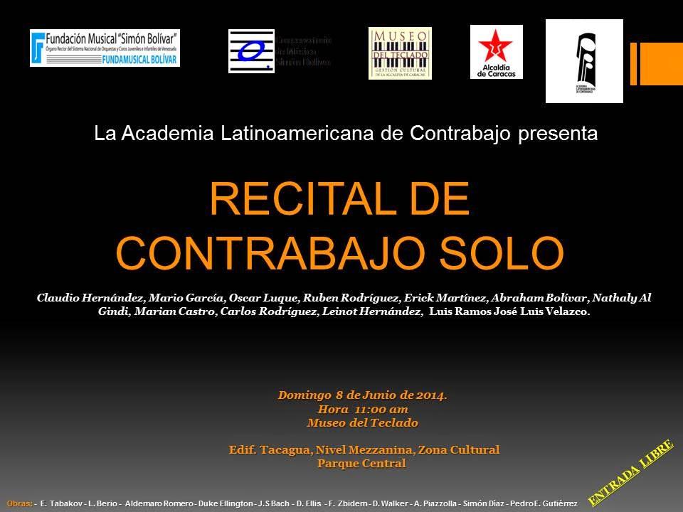 Conservatorio de m sica sim n bol var el contrabajo llega for Conservatorio simon bolivar blog