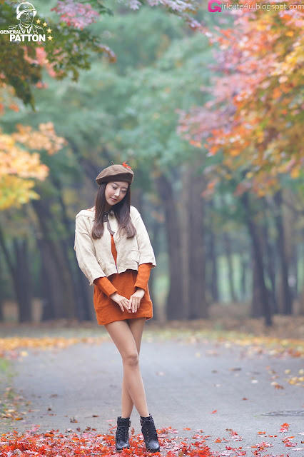 Park-Hyun-Sun-Autumn-Orange-Dress-07-very cute asian girl-girlcute4u.blogspot.com