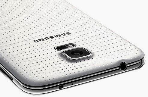 Samsung Galaxy S5 Belakang dengan permukaan kesat
