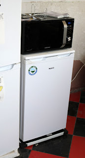 Second fridge, and microwave