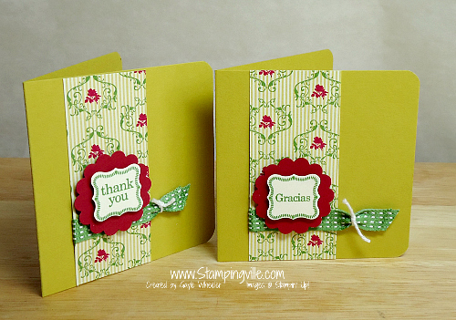 Stampin' Up! Pretty Petites Thank You Mini Card