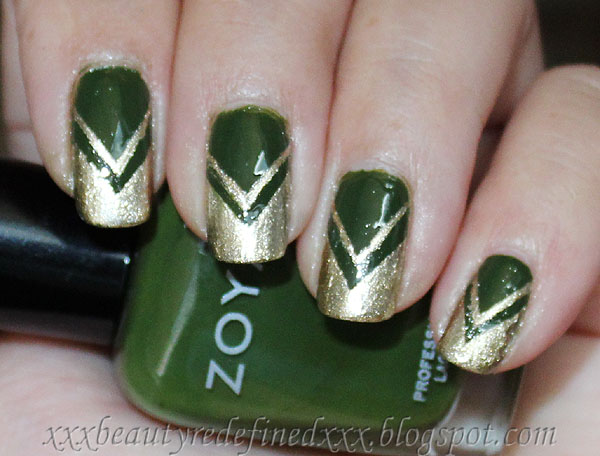 Beautyredefined by pang green and gold chevron nails look and green and gold chevron nails look and tutorial prinsesfo Choice Image