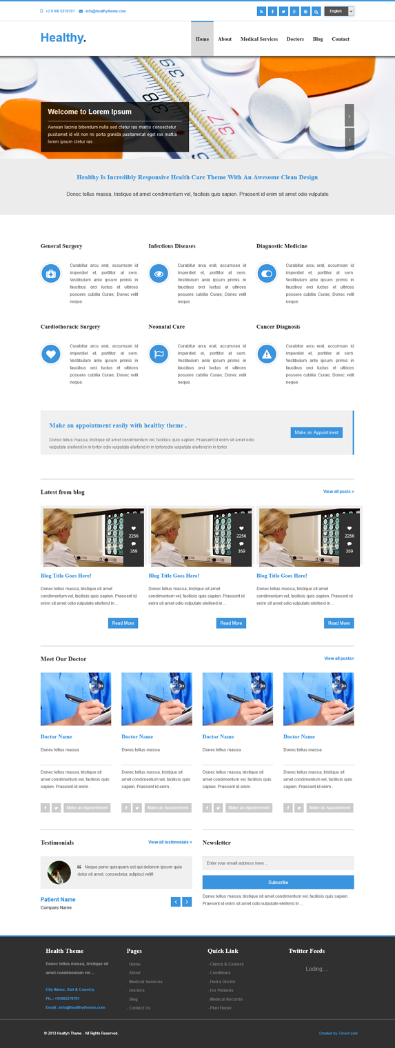 html theme for medical business