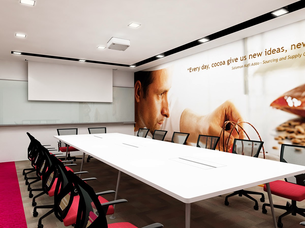 Conference Room Design And Furniture With Mural Wall Graphics