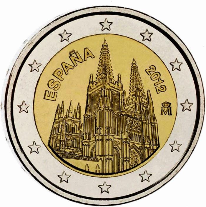 2 euro Spain 2012, Burgos Cathedral