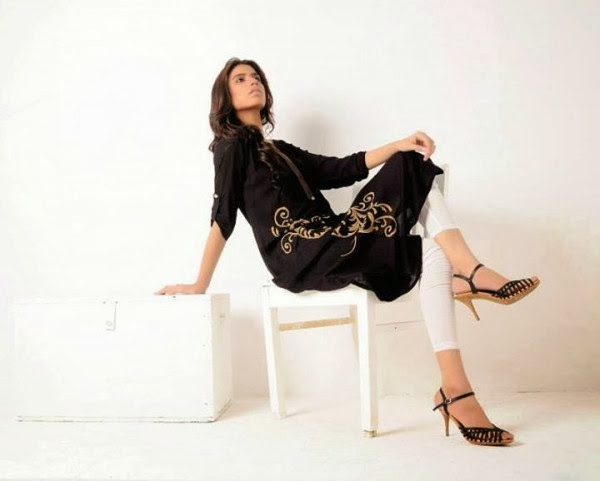 Azleena Faisal New Winter Dresses Collection 2013-14 For Women & Girls