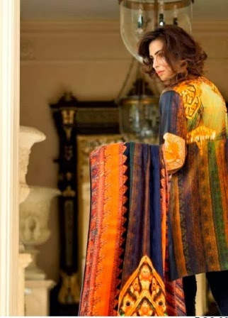 Gul Ahmed Lamis Digital Silk Dresses