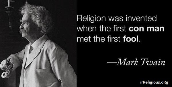 Funny Mark Twain Religion Invented Quote Picture
