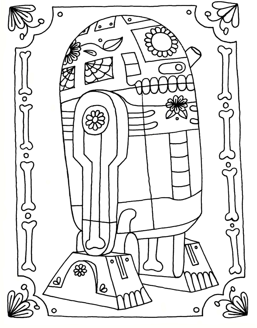 r2d2 coloring pages - photo #36