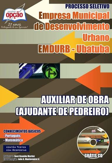 Apostila AUXILIAR DE OBRA EMDURB