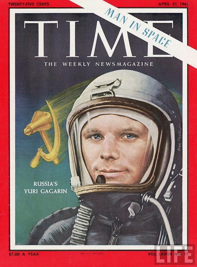 Time cover of April 1961, devoted to Yuri Gagarin's first space flight.