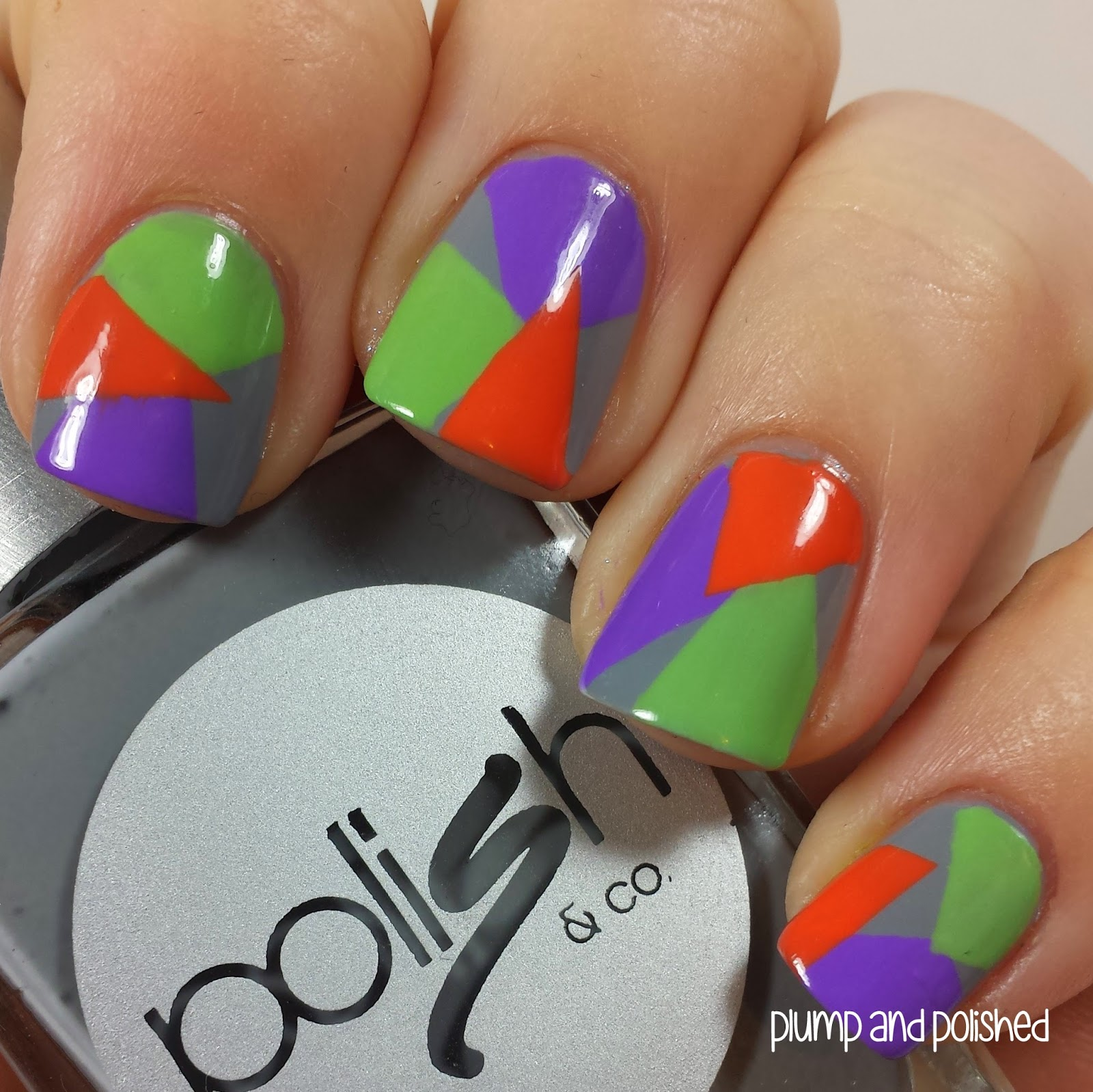 Plump And Polished Shoplately Geometric Nail Art