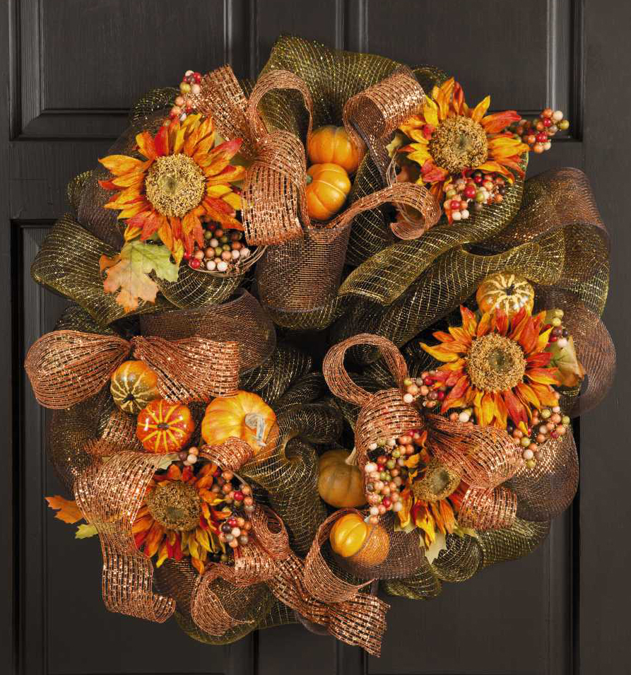 Everyday life at leisure a new craft pattern book deco Fall autumn door wreaths