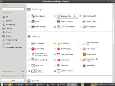 3D Desktop Canggih dengan Compiz Fusion di Linux