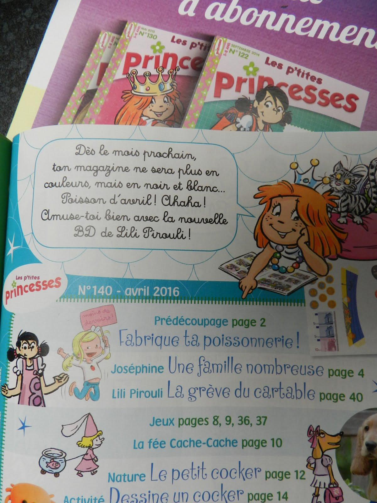 Dans le mag' des P'tites Princesses !
