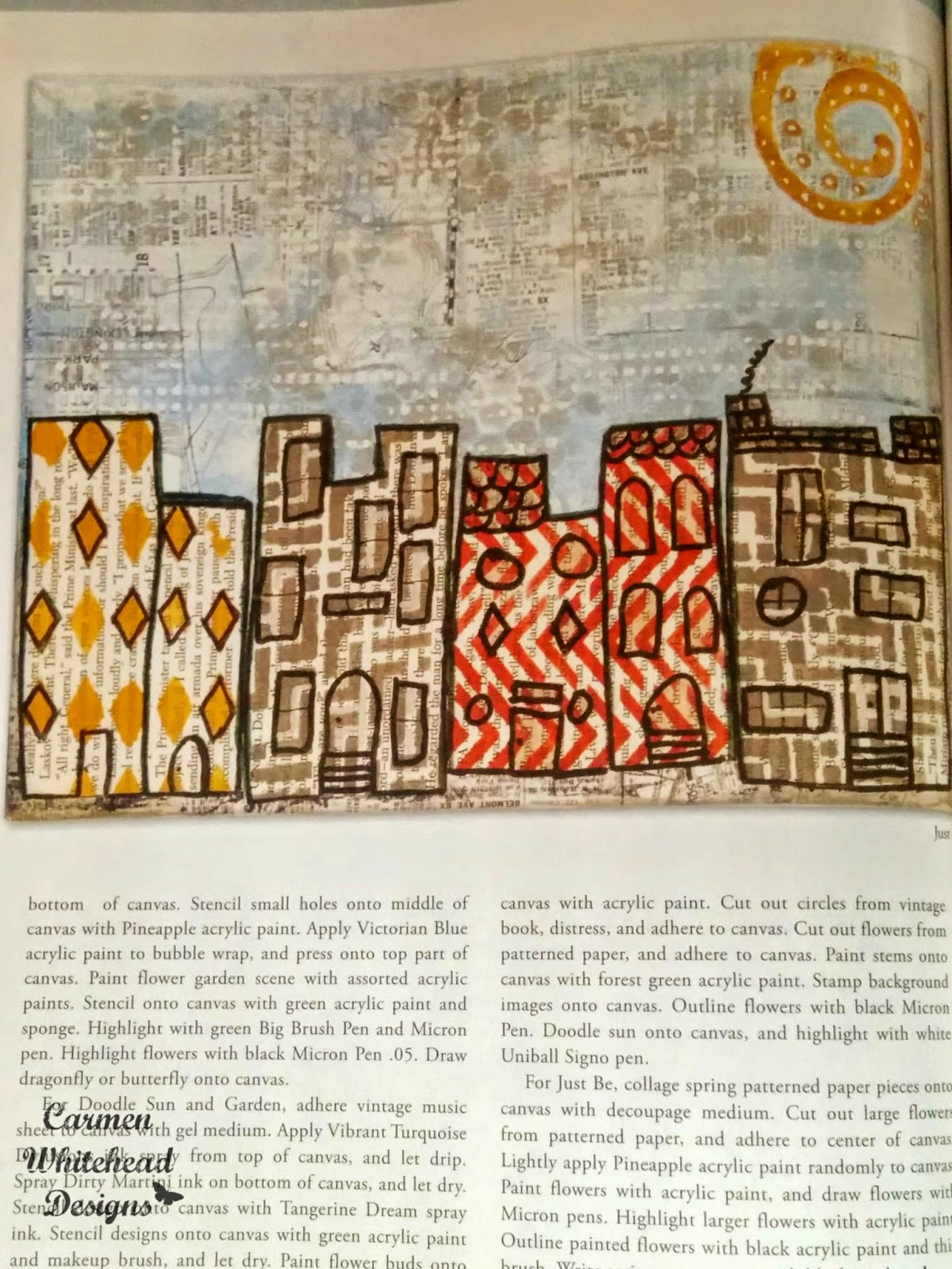 Winter 2015 Somerset Studio Gallery, Carmen Whitehead Designs published
