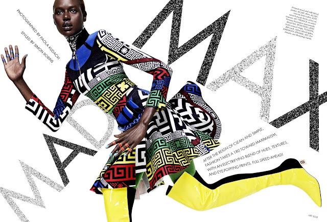 Model @ Ajak Deng - Elle US September 2015