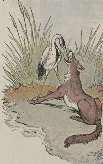 """Cerita fabel: """"serigala dan bangau"""""""