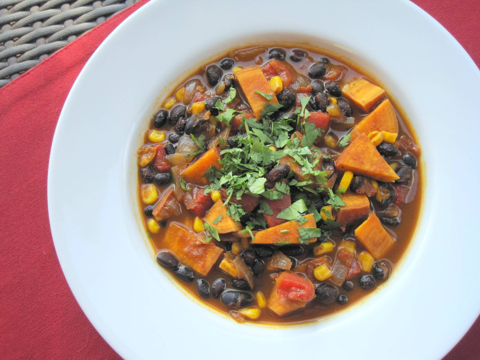 Lemons and Lima Beans: sweet potato, corn, and black bean chili