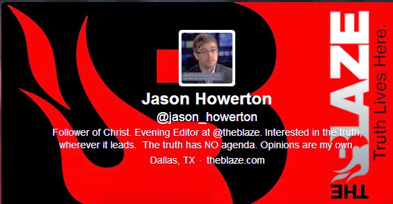 Blaze Evening Editor Jason Howerton