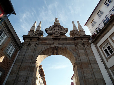arco porta nova, braga, portugal, aberta. arco puerta nueva, apertura