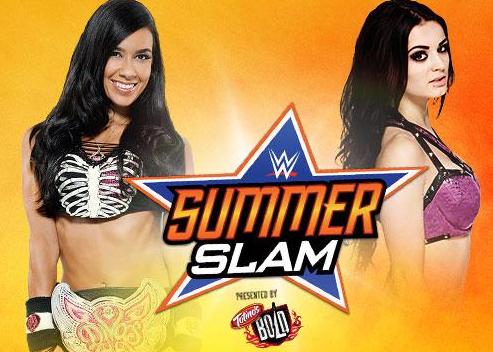 un super combate que incorpora toda la belleza de las mujeres de la WWE en un solo cuadrilátero cuando Paige se enfrenta a Aj Lee