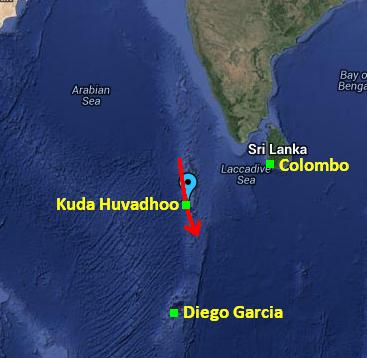 Penduduk Pulau Maldives Nampak Pesawat Besar Terbang Rendah Pagi 8 Mac 2014