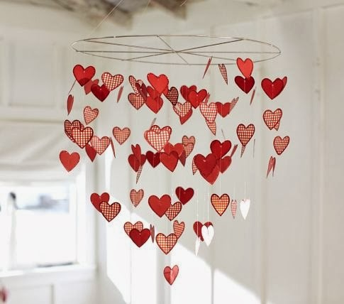 A Lovely Floating Hearts Chandelier For Your Bedroom Use Plastic Cutouts And Markers Some Wire Fishing Line To String Them