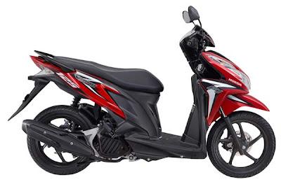 Sepeda Motor Honda Vario Techno 125cc pgm-fi / injeksi pilihan warna merah