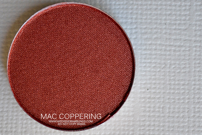 MAC Cosmetics Makeup Veluxe Pearl Eyeshadow Coppering Indian Beauty Blog Reviews Swatches FOTD Looks