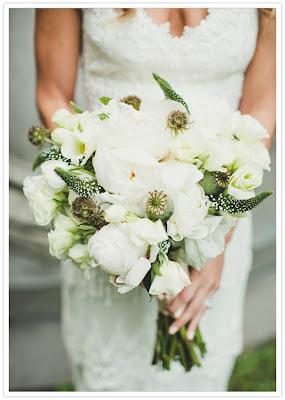 Ramo novia boho blanco Cádiz Organización bodas