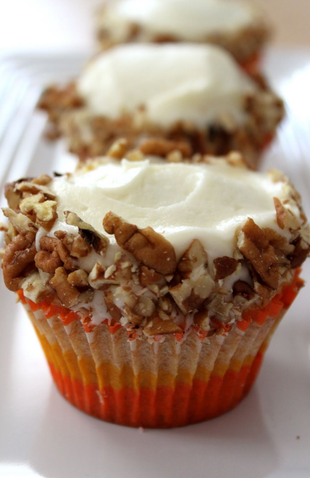 Carrot Cupcakes With Cream Cheese Icing Recipe — Dishmaps