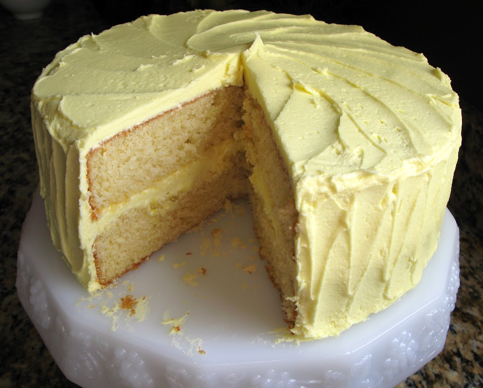 The Bake-Off Flunkie: High Altitude Yellow Cake w Lemon Buttercream