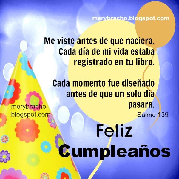Mensajes Cristianos Cumpleaños 6 Versículos, Citas Bíblicas con ...